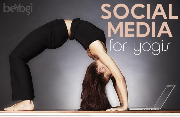 social media for yoga