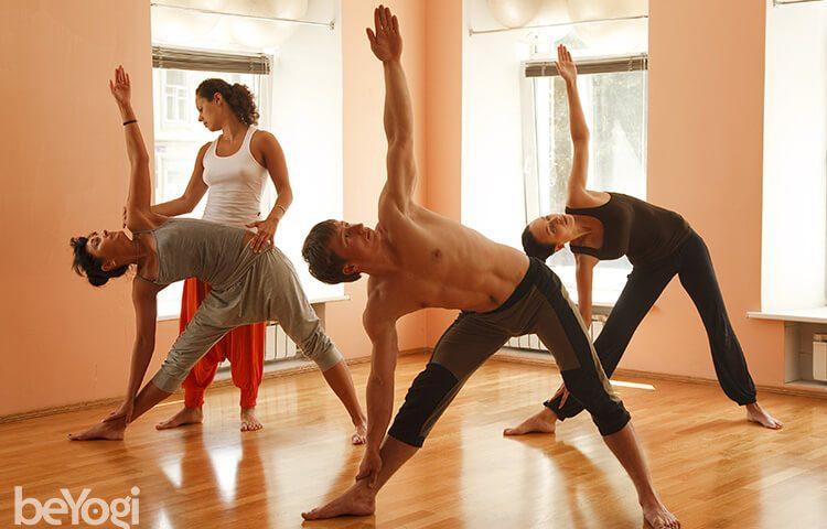 yoga students