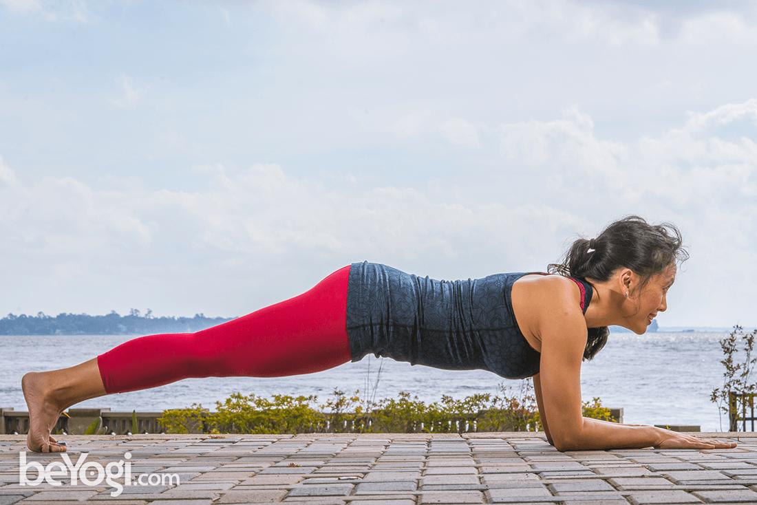 Dolphin Plank Pose Makara Adho Mukha Svanasana Beyogi