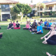 yoga class outside