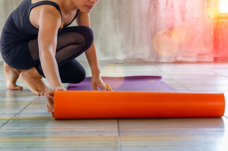 teaching yoga - yoga mat