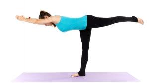 Woman yoga teacher in various poses (asana) isolated on white background