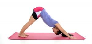Girl Doing Yoga Pose in a Studio
