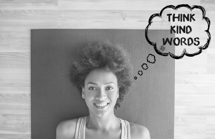 Woman practices ahimsa by thinking kind words
