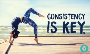 consistent yoga practice