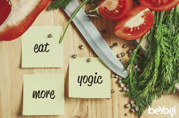 Yogic diet foods: vegetables and seeds
