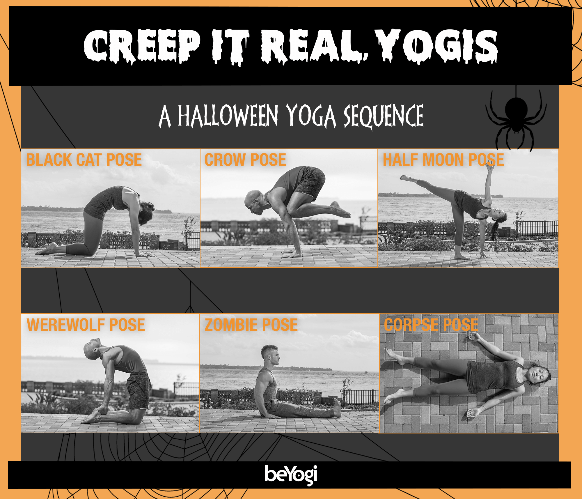 Halloween Yoga Sequence Infographic