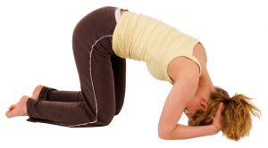 headstand - placing head down