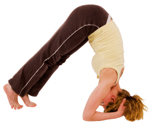 Headstand pose - walking in