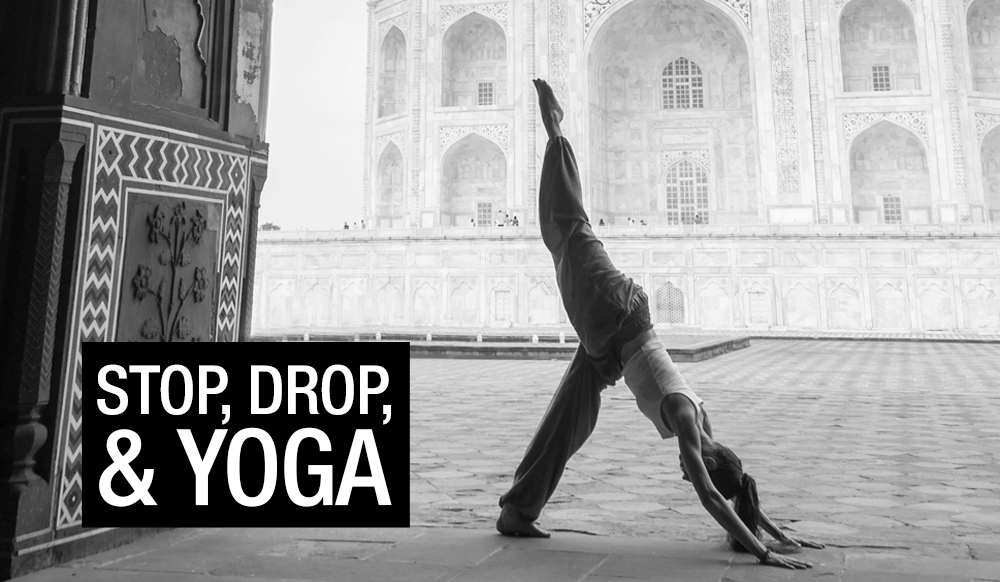 Yoga at taj mahal india