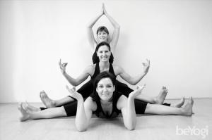 Happy yoga teachers at yoga studio