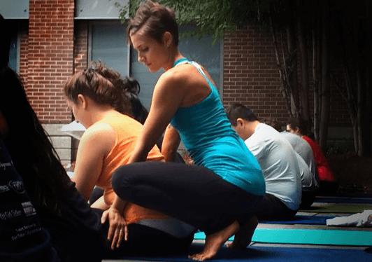 sara quiriconi teaching yoga